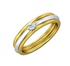 Natural Diamond Band Men 0.15 CT / 5.10 gm Gold
