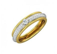 Natural Diamond Band 0.38 CT / 3.10 gm Gold