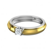 PreSet Natural Solitaire Diamond Band Men 0.30 CT / 5.40 gm Gold