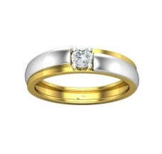 PreSet Solitaire Band Men 0.30 CT / 6.70 gm Gold