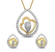 Natural Diamond Pendant Half Set - 0.45 CT / 6.01 gm Gold