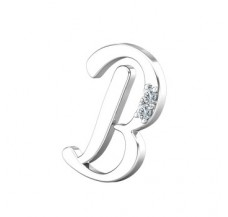 Natural Diamond 0.02 CT / 1.51 Sterling Silver