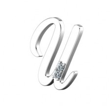 Natural Diamond 0.02 CT / 1.64 Sterling Silver