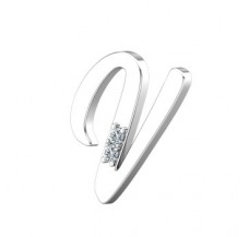 Natural Diamond 0.02 CT / 1.60 Sterling Silver