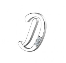 Natural Diamond 0.02 CT / 1.55 Sterling Silver