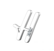 Natural Diamond 0.02 CT / 1.50 Sterling Silver