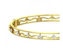 Natural Diamond Bangles 0.85 CT / 19.70 gm Gold