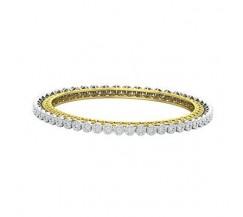 Natural Diamond Bangles 3.55 CT / 19.74  gm Gold