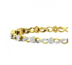 Natural Diamond Bangles 1.65 CT / 15.00 gm Gold