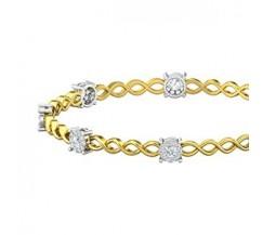 Natural Diamond Bangles 1.68 CT / 12.47  gm Gold
