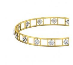 Natural Diamond Bangles 1.28 CT / 10.97  gm Gold