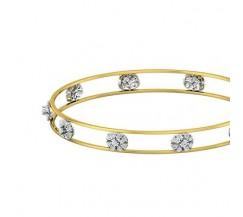 Natural Diamond Bangles 1.05 CT / 9.23  gm Gold