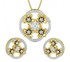 Diamond Pendant Half Set - 1.63 CT / 10.51 gm Gold