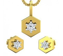 Diamond Pendant Half Set - 0.19 CT / 3.05 gm Gold