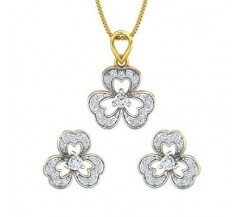 Diamond Pendant Half Set - 0.63 CT / 4.37 gm Gold