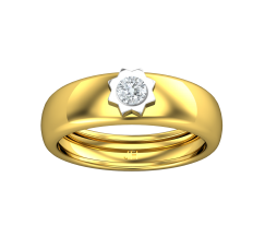 Natural Diamond Band for HER 0.15 CT / 3.70 gm Gold