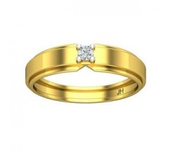 Natural Diamond Band for Men  0.10 CT / 3.90 gm Gold