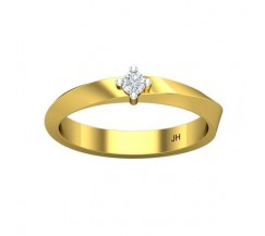 Natural Diamond Band for Men 0.12 CT / 4.50 gm Gold