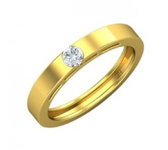 Natural Diamond Band for Men 0.25 CT / 4.50 gm Gold