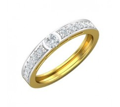 Natural Diamond Band for HER 0.40 CT / 2.90 gm Gold