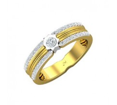Natural Diamond Band for HER 0.38 CT / 4.40 gm Gold