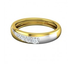 Natural Diamond Band for HER 0.21 CT / 3.20 gm Gold
