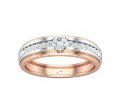 Natural Diamond Band for HER 0.37 CT / 3.80 gm Gold