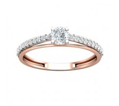 PreSet Natural Solitaire Diamond Ring 0.46 CT / 1.70 gm Gold