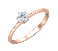 PreSet Natural Solitaire Diamond Ring 0.30 CT / 1.60 gm Gold