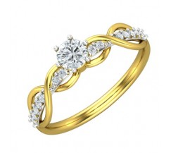 PreSet Natural Solitaire Diamond Ring 0.41 CT / 2.55 gm Gold