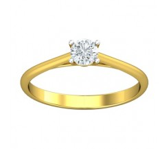 PreSet Natural Solitaire Diamond Ring 0.30 CT / 1.50 gm Gold