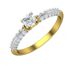 PreSet Natural Solitaire Diamond Ring 0.58 CT / 2.00 gm Gold