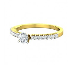 PreSet Natural Solitaire Diamond Ring 0.58 CT / 1.80 gm Gold