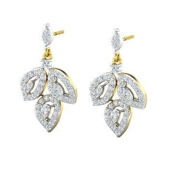 0671cb47c Buy Natural Diamond Earrings 1.08 CT / 5.75 gm Gold Online at Lowest ...