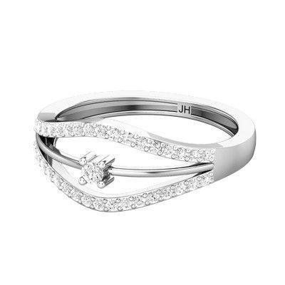 e322c302f Buy Natural Diamond Designer Ring 0.26 CT / 3.05 gm Gold Online at ...