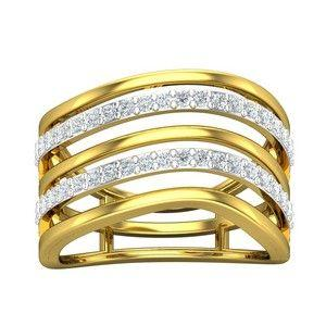 00335bf9b Buy Diamond Ring 0.43 CT / 3.47 gm Gold Online at Lowest Price in India